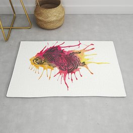 Fish - Golds and Reds. Rug