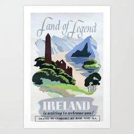 Land of Legend Vintage Travel Poster Art Print