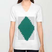 knitting V-neck T-shirts featuring Knitting by Diogo Coito