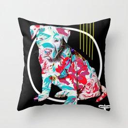 BRAD PITT-BULL Throw Pillow