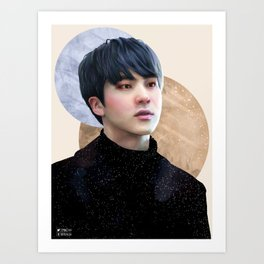 Seokjin : Flushed Art Print
