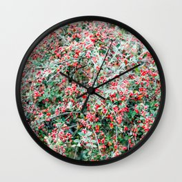 Creeping Cotoneaster Wall Clock