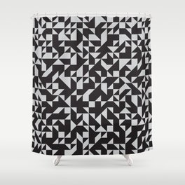 Girard Inspired Geometric Pattern Shower Curtain