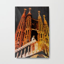 Sagrada Familia - unfinished Metal Print
