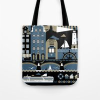 stockholm Tote Bags featuring Stockholm by koivo