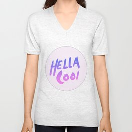 hella cool Unisex V-Neck