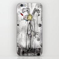 foo fighters iPhone & iPod Skins featuring Mr. Bunny Foo Foo by Ashleigh Ryan