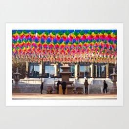 Bongeunsa Temple Art Print