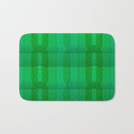 Greenish pattern of borders .. Bath Mat