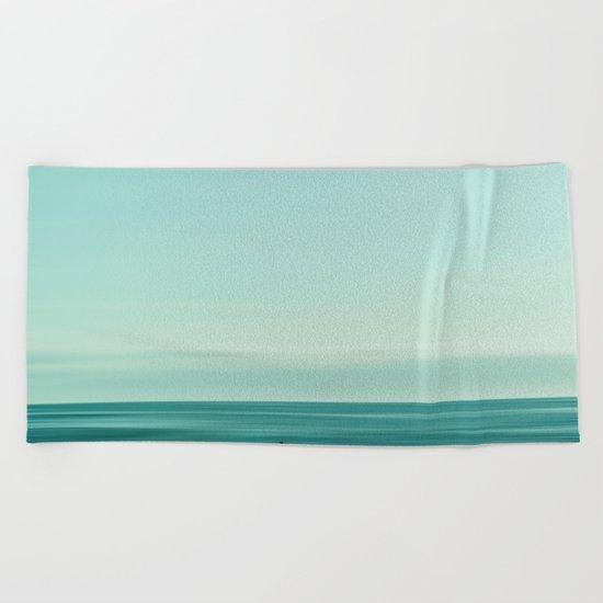 Man in the sea Beach Towel
