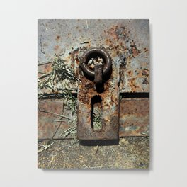 Old Unlocked Lock Metal Print