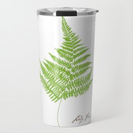 Lady Fern Illustration Botanical Print Travel Mug