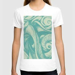 swirl (green and tan) T-shirt