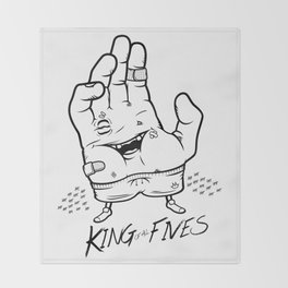 King of ALL Fives Throw Blanket