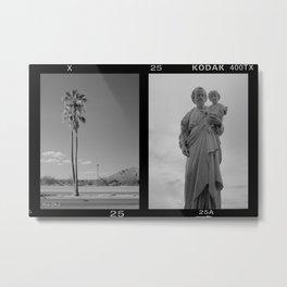 Tucson Street Scene (vintage camera photos) Metal Print