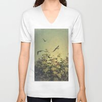 freedom V-neck T-shirts featuring Freedom by Victoria Herrera