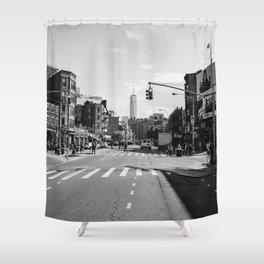 Downtown New York Monochrome Shower Curtain