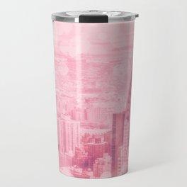Pink and Bubbly New York City Travel Mug