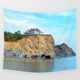 Cliffs of Perce Quebec Wall Tapestry