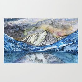 The Maroon Bells Meets  the Sky Rug