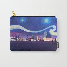Starry Night in Hamburg   Van Gogh Inspirations in Hamburg Harbour with Elbe Philharmonic Hall Carry-All Pouch