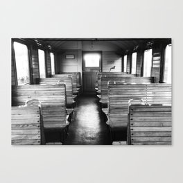 Old train compartment - Altes Zugabteil Canvas Print