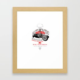 Rat hot rod 2 Framed Art Print