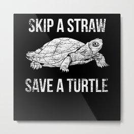 Turtle Conservation Metal Print
