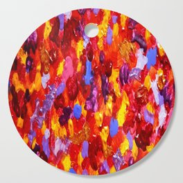Abstract Red 002 Cutting Board