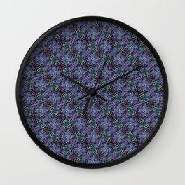 Purpling Curlicules Wall Clock