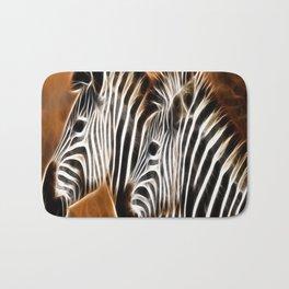 abstract fractal pattern zebra Bath Mat