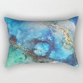 Gold Stream Rectangular Pillow