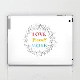 068 love yourself more Laptop & iPad Skin