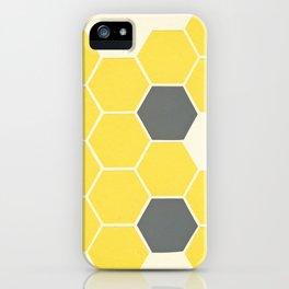 Yellow Honeycomb iPhone Case