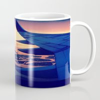 plane Mugs featuring Plane by Leah Galant