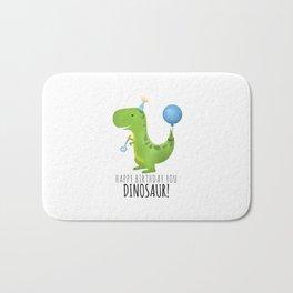 Happy Birthday You Dinosaur! Bath Mat