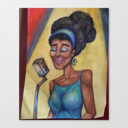 Blues Lady Canvas Print