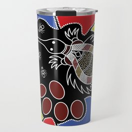 Authentic Aboriginal Art – Echidna Dreaming Travel Mug