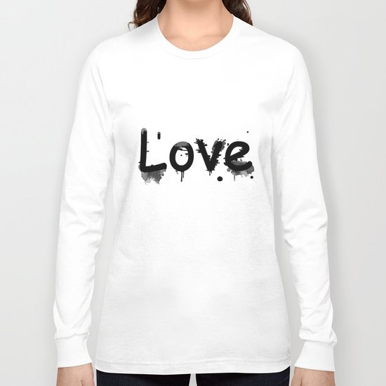 Black and white pattern Love .  1 Long Sleeve T-shirt