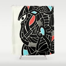 - face for the storm - Shower Curtain