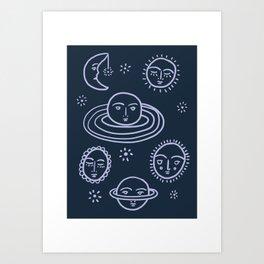 Cranky Planets Astro Print Art Print