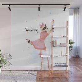 Claraccoon Wall Mural