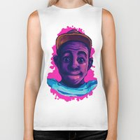 tyler the creator Biker Tanks featuring Tyler The Creator II (Pink) by ASHUR Collective™