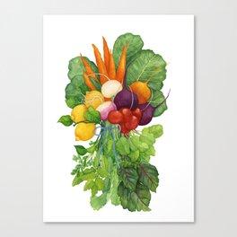 Vegetable Bouquet Canvas Print