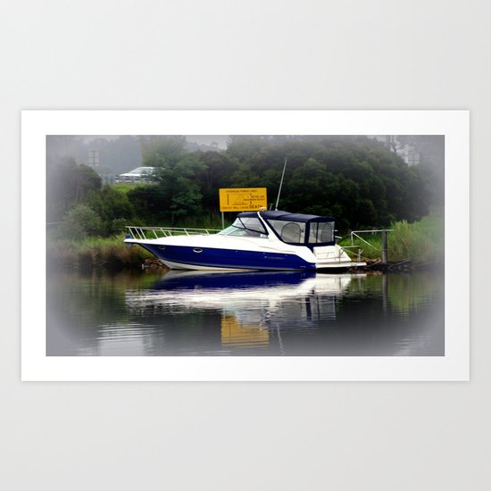 Reflections & Fog on the Thompson River Art Print