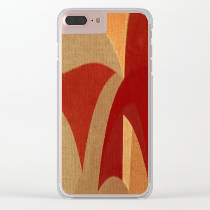 Two Horses Clear iPhone Case