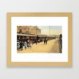 1900s Haydarpasa railroad station, train Framed Art Print