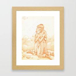 Abbraccio in battaglia - Royai Framed Art Print