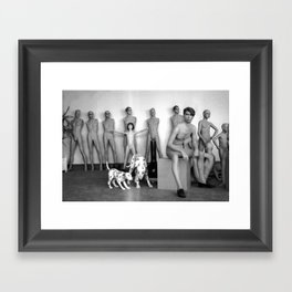 MANNEQUINS BLACK AND WHITE PHOTOGRAPH Framed Art Print