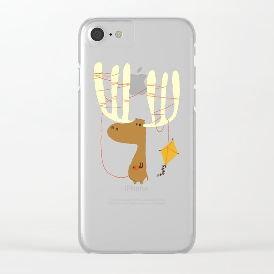 A moose ing Clear iPhone Case